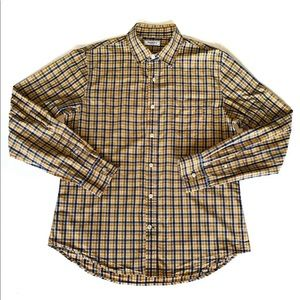 Saks Fifth Avenue Check Button Down Shirt - Sz: L